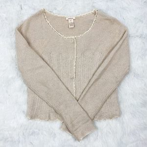 Sundance Cream Snap Cardigan Sweater
